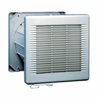 Commercial Fan with Electronic Shutters - 9 inch