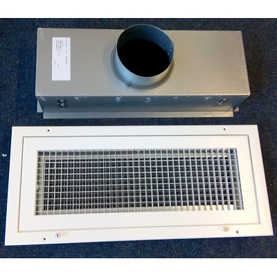 Kitchen Extract Grill with Grease Filter - 450 x 150 - NO GRILL BOX