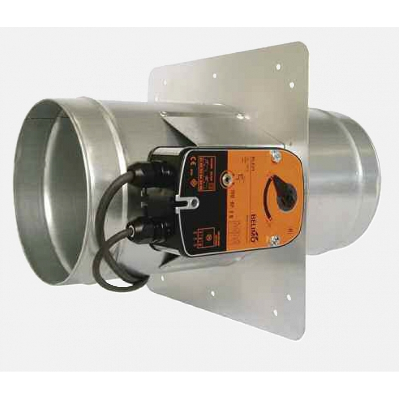 FSD-C Motorised Failsafe Single Blade Fire/Smoke Damper with Actuator - 125mm