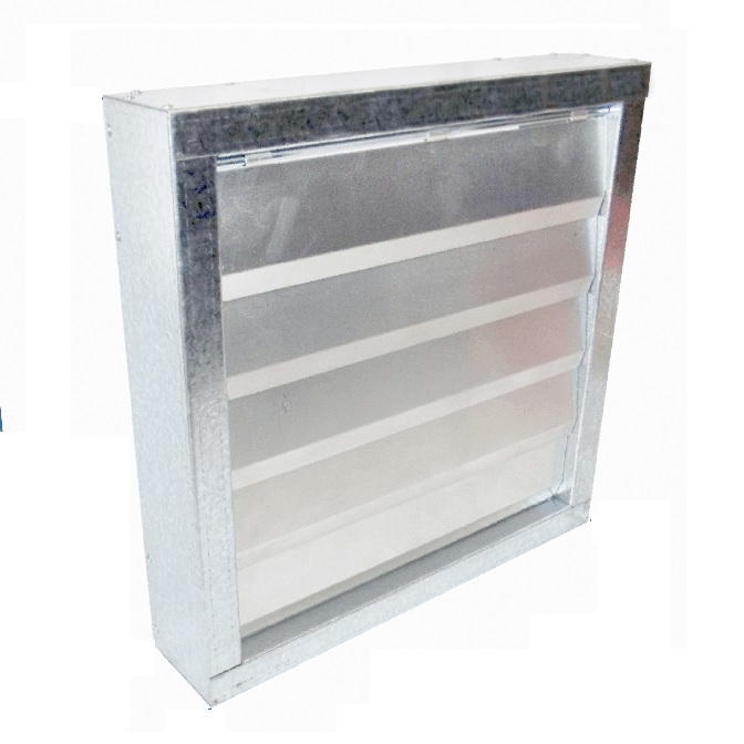 Aluminium Axial Fan Gravity Shutter - MS