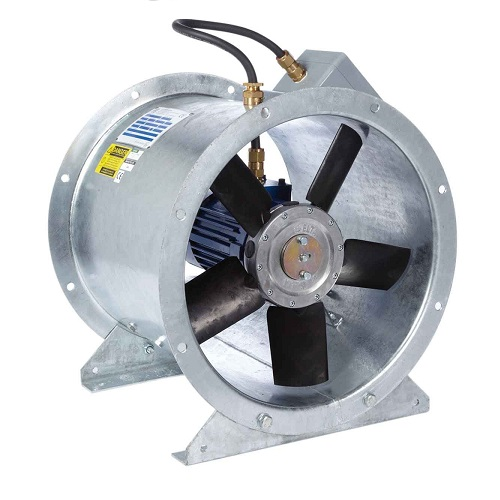 Revolution SLCX ATEX Long Cased Axial Flow Fan SLCX710/4-3 Three Phase