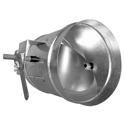Stainless Steel Single Blade Regulating Damper - 250mm