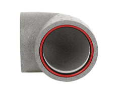 125mm Insulated 90 Degree Bend