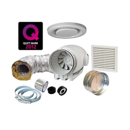 TD-Silent 250 Bathroom Extractor Fan Kit