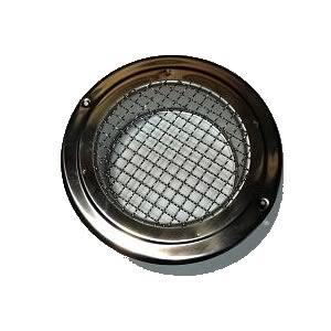 Chrome Circular Grill with Mesh - USBO