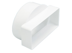 110 x 54mm Short Rectangular to Round Adaptor male