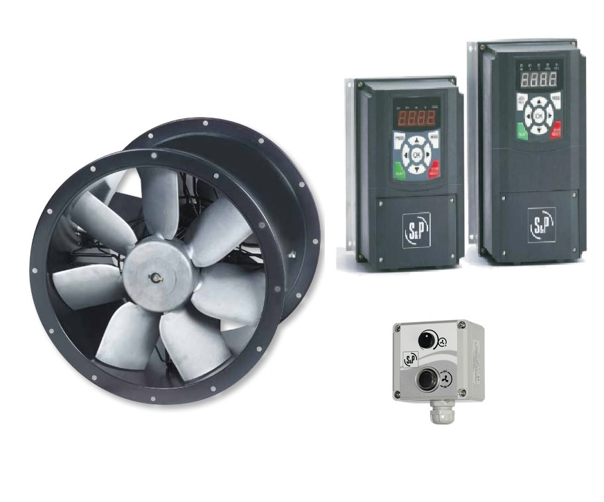 Cased Axial Twin Fan & Inverter Kit - TCBTx2/4-560 - Pack 3