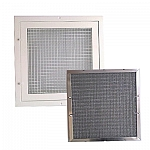 Egg Crate Grill with Dust panel filter 1 inch- 595x595
