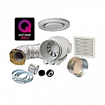 MV-Silent 250 Bathroom Extractor Fan Kit - Standard - No Timer