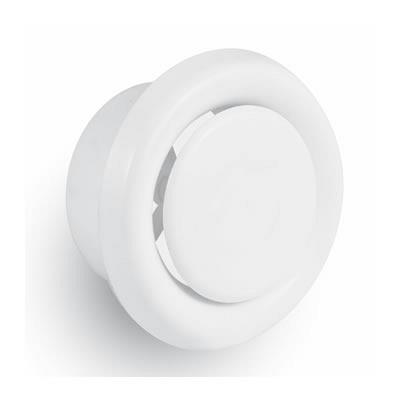 Ceiling Valve - White Plastic Extract Grille