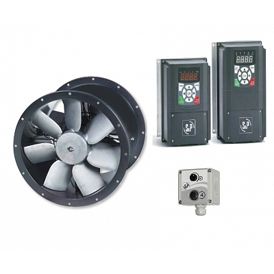 Cased Axial Twin Fan & Inverter Kit - TCBTx2/4-500 - Pack 2 1